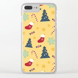 It's Christmas Time Colourful Pattern VI Clear iPhone Case