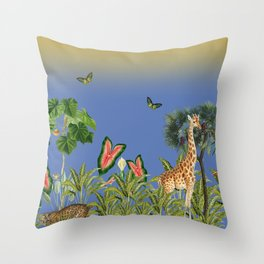 Exciting Fun And Exotic Jungle Theme Throw Pillow