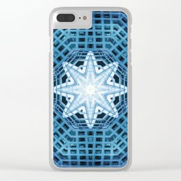 Blue Abstract 14 Clear iPhone Case