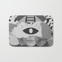 What is Art? (Black and White) Bath Mat