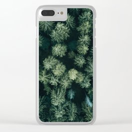 Forest from above - Landscape Photography Clear iPhone Case