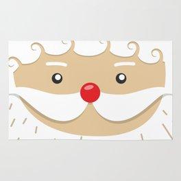 Close Up Santa Claus Face Rug