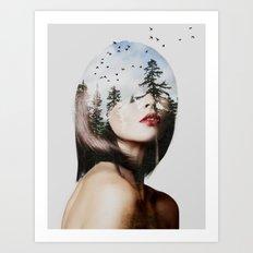 Lisa Mona Art Print