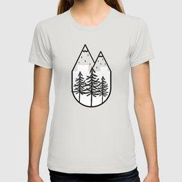 Black Trees Mountain Top T-shirt