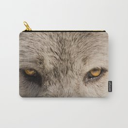 Wolf Eyes Wildlife Photograph - Nature Wall Art Carry-All Pouch