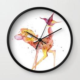 Bambi Meets Butterfly Wall Clock