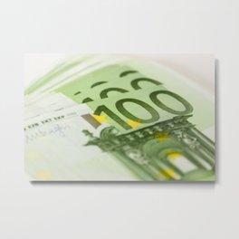 100 euro banknotes Metal Print