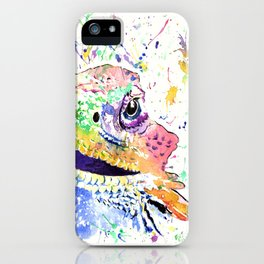 Bearded Dragon in full colour iPhone Case