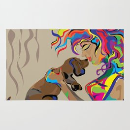 """Fall in Lust"" Paulette Lust's Original, Contemporary, Whimsical, Colorful Art  Rug"