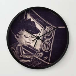 Vintage TV Wall Clock