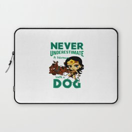 woman with a dog Laptop Sleeve