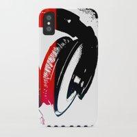 headphones iPhone & iPod Cases featuring Headphones by Derek Fleener