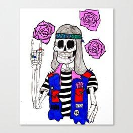 rockin' skull Canvas Print
