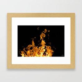 Enduring the Flame Framed Art Print