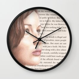 The Girl on Fire Wall Clock