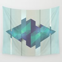 gem Wall Tapestries featuring Gem Abstract by Alyn Spiller