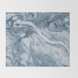 Cipollino Azzurro blue marble Throw Blanket