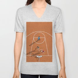 The Game of Basketball  Unisex V-Neck