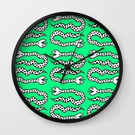 Pop Art Snakes Collage Wall Clock