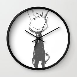 minima - beta bunny pose Wall Clock