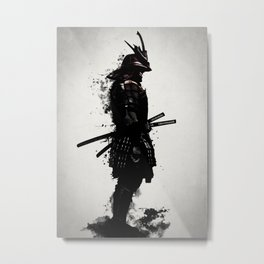 Armored Samurai Metal Print