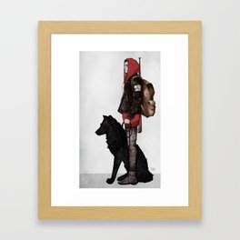 The boy and the wolf Framed Art Print