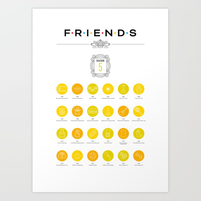 Tribute to Friends: Season 5 Art Print