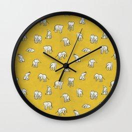 indian baby elephants Wall Clock