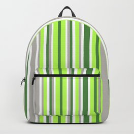 Green and Grey Stripes Backpack