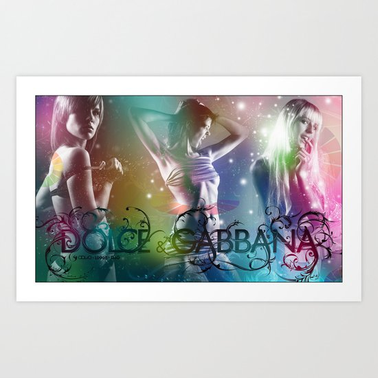 Dolce and Gabana Art Print