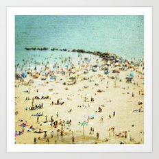 Coney Island Beach 2 Art Print