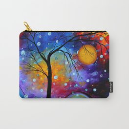 """Winter Sparkle"" Original Whimsical Contemporary Painting, Art by Megan Duncanson MADART Carry-All Pouch"