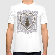Queen of hearts not heads Mens Fitted Tee SMALL White