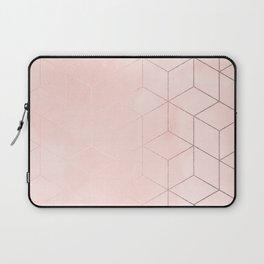 Rosegold Pink Geometric Blocks Laptop Sleeve
