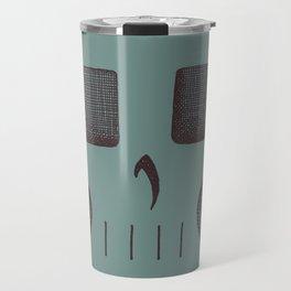 Skull Linework (Black / Teal) Travel Mug