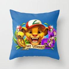 Kakuna Rattata Throw Pillow