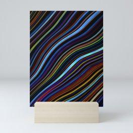 Wild Wavy Lines 45 Mini Art Print