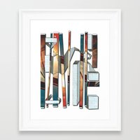 industrial Framed Art Prints featuring Industrial by Shannon Rutherford