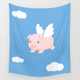 Flying Pig Wall Tapestry
