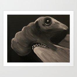 Hammerhead Shark Art Print