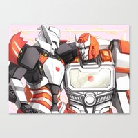 transformers Canvas Prints featuring TRANSFORMERS: Amica by alfheimr