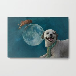 The little dog laughed Metal Print