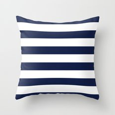 Simply Stripes Nautical Navy on White Throw Pillow