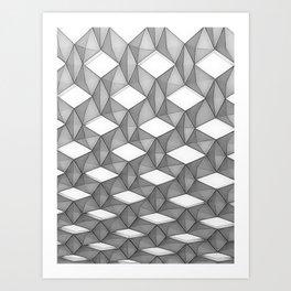 Trapez 5/5 grey pencil sketch by Brian Vegas Art Print