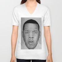 jay z V-neck T-shirts featuring Jay-z by pat langton