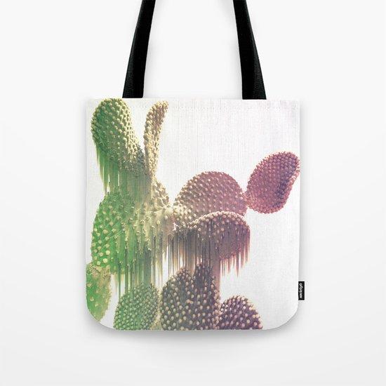 Glitch Cactus Tote Bag