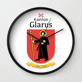 Canton of Glarus Wall Clock
