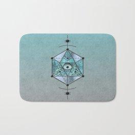 Sacred Geometry Eye Of Protection Bath Mat