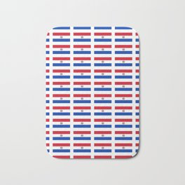 flag of paraguay 2 -paraguyan,asuncion,spanish, south america, latin america,pan flute,coffee,forest Bath Mat