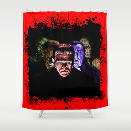 Famous Monsters Team Shower Curtain